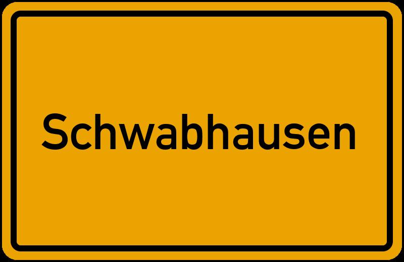 Ortsschild Schwabhausen