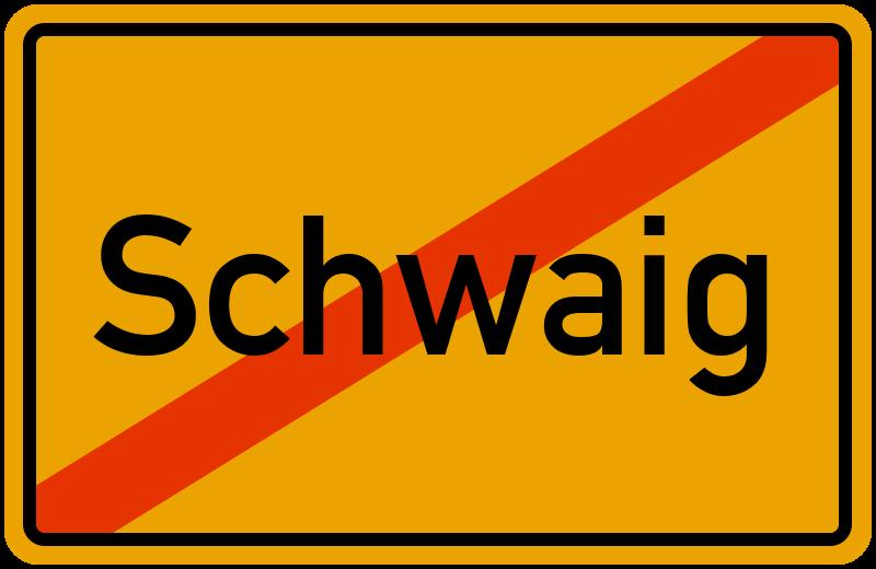 Ortsschild Schwaig