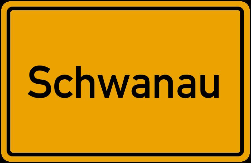 Ortsschild Schwanau