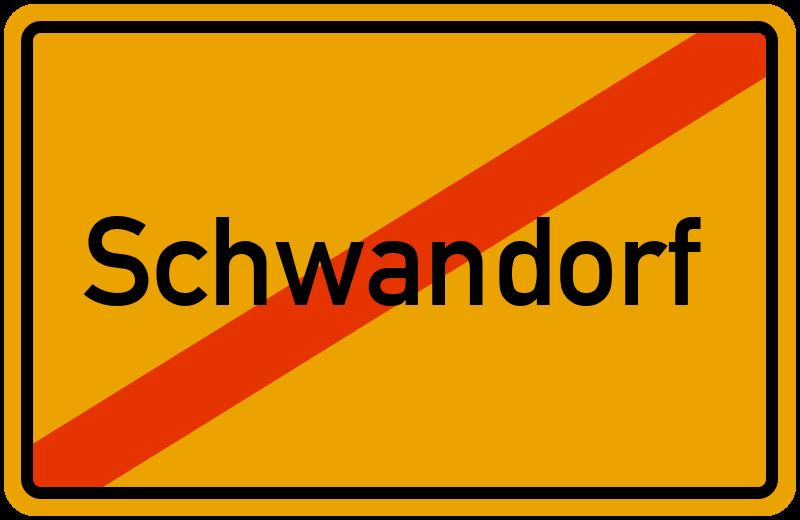 Ortsschild Schwandorf