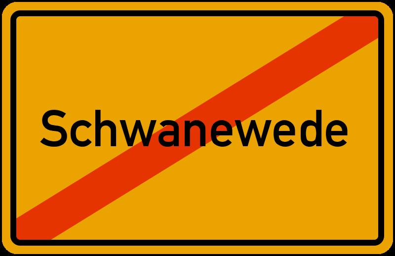 Ortsschild Schwanewede