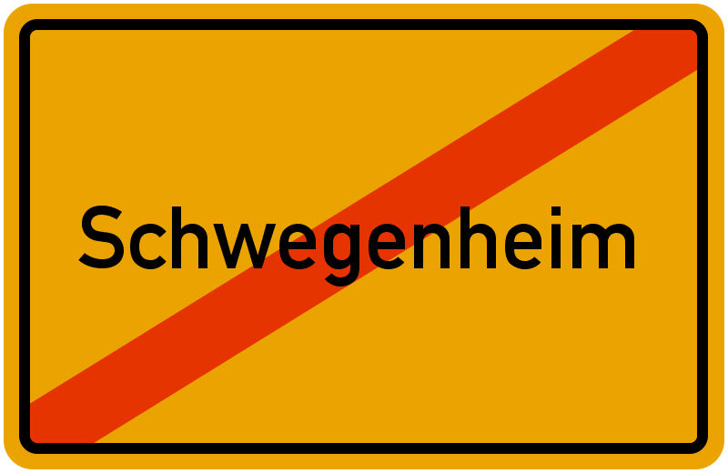 Ortsschild Schwegenheim