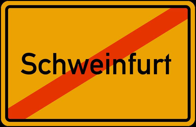 Ortsschild Schweinfurt