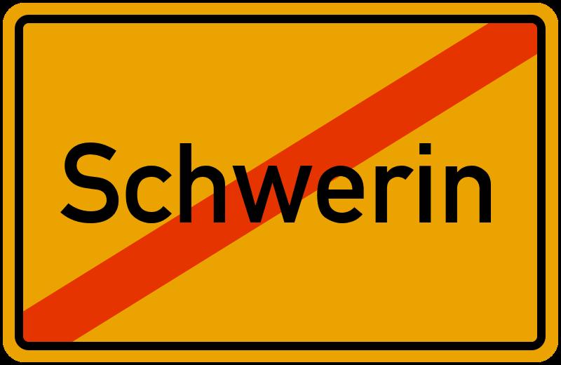 Ortsschild Schwerin
