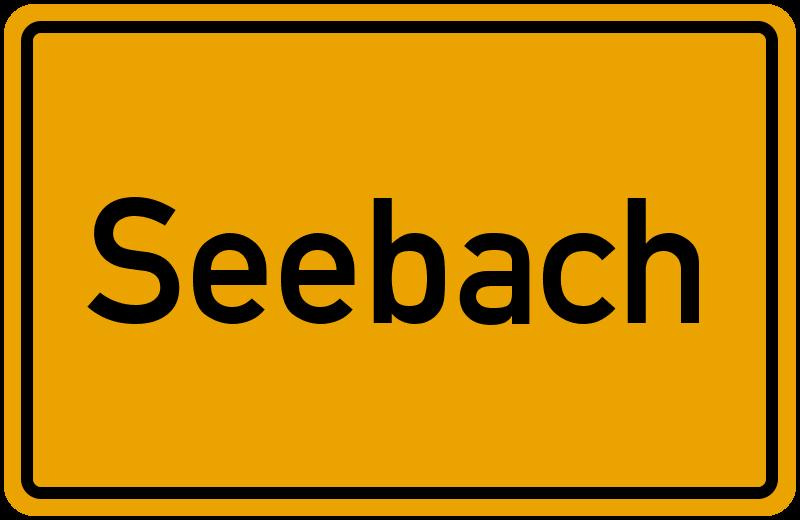Ortsschild Seebach
