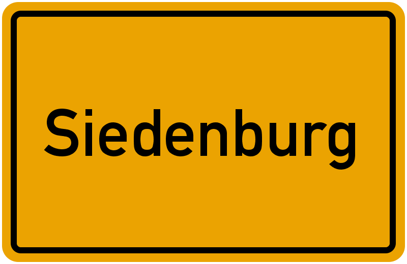 Ortsschild Siedenburg