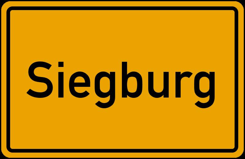 Ortsschild Siegburg