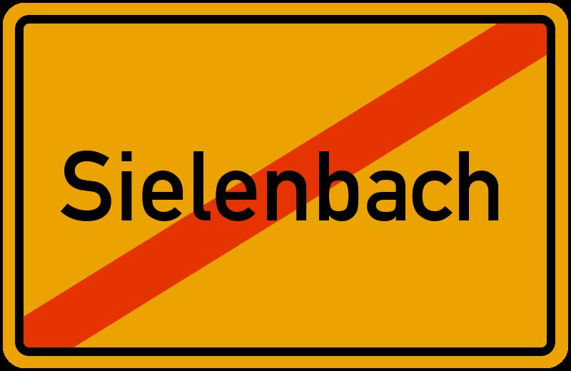 Ortsschild Sielenbach