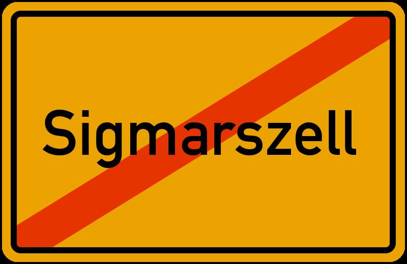 Ortsschild Sigmarszell