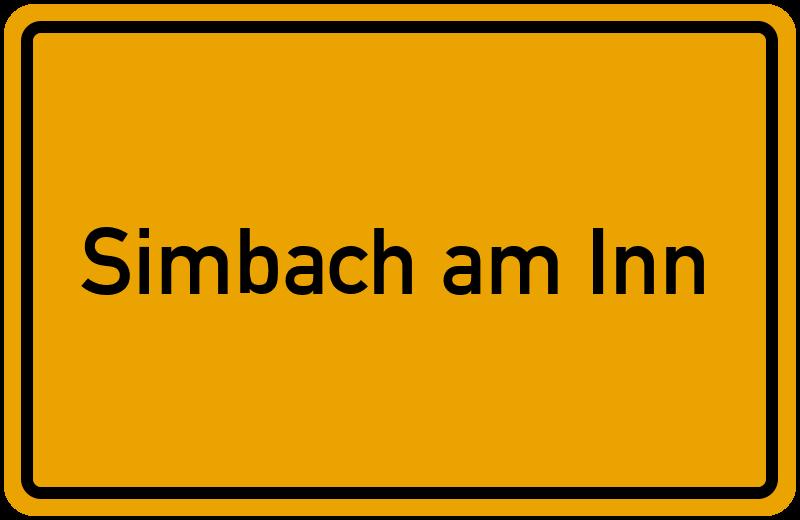 Ortsschild Simbach am Inn