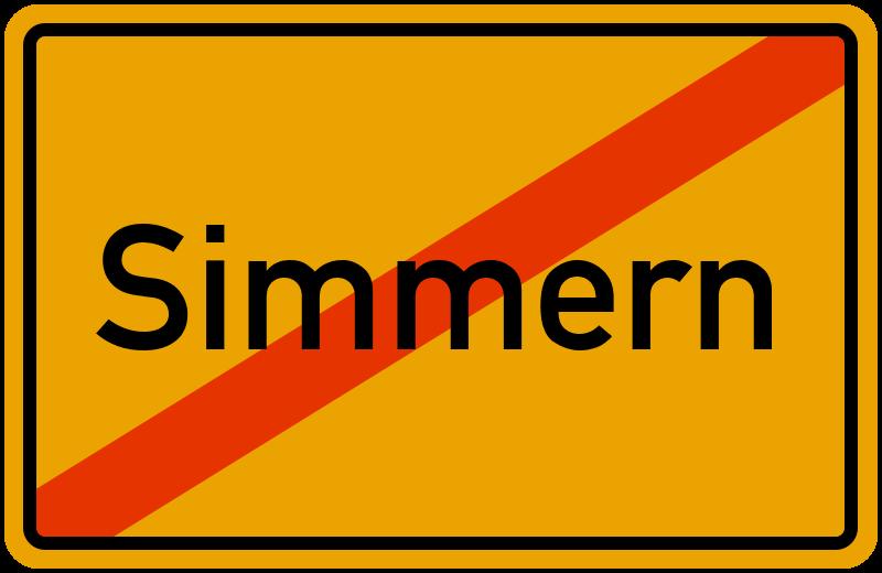 Ortsschild Simmern