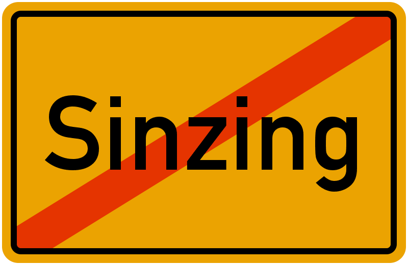 Ortsschild Sinzing