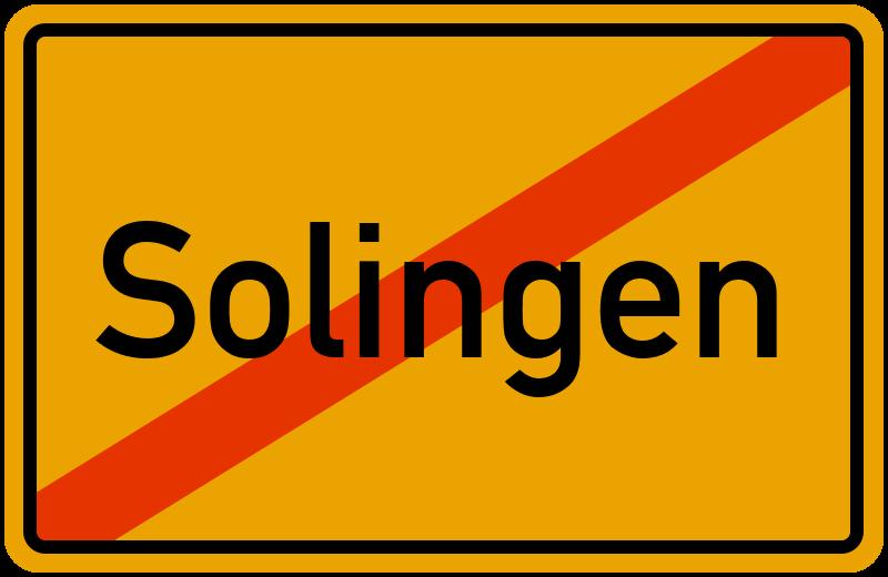 Ortsschild Solingen