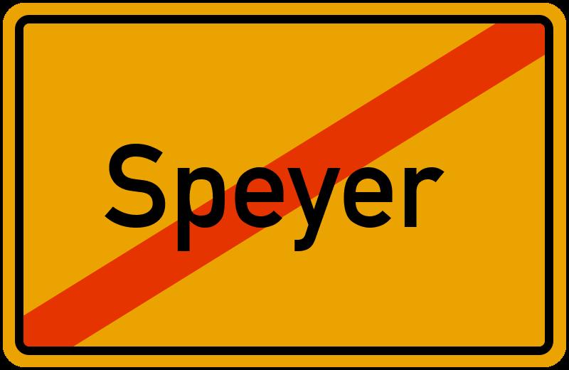 Ortsschild Speyer