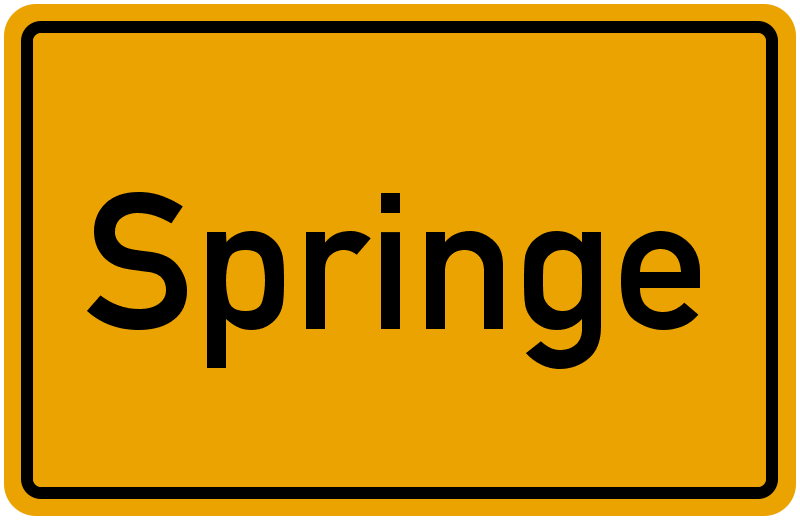 Ortsschild Springe