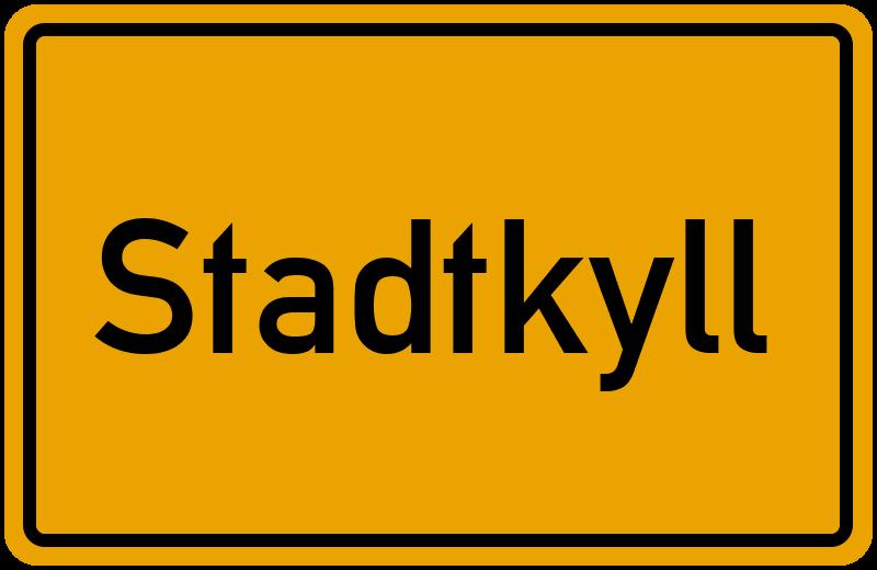 Ortsschild Stadtkyll