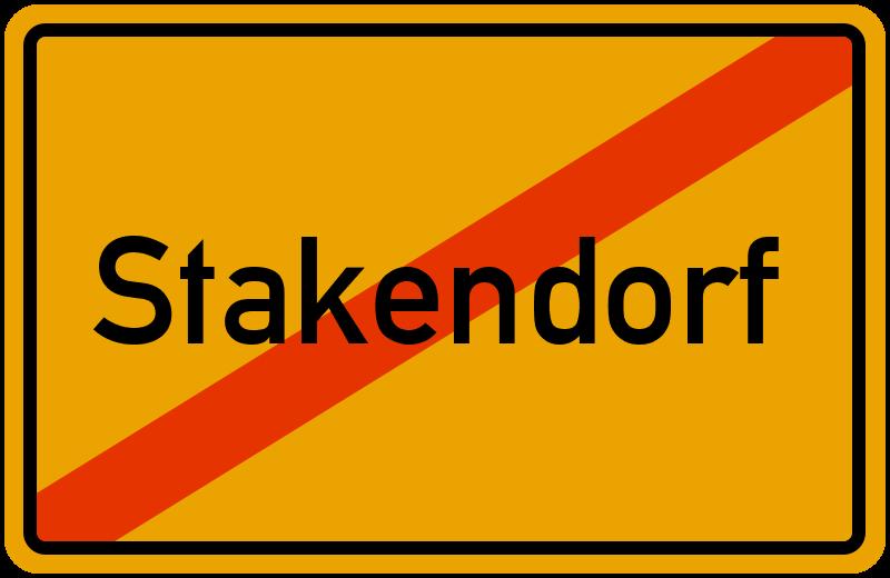 Ortsschild Stakendorf