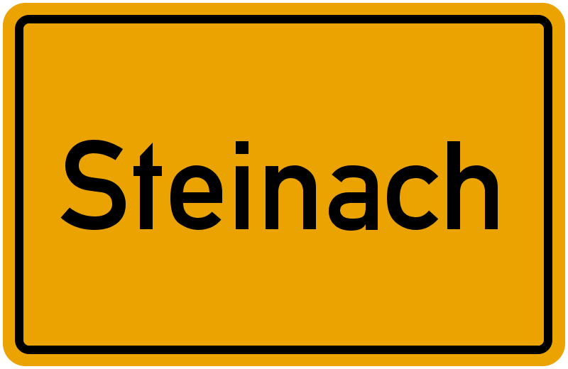 Ortsschild Steinach