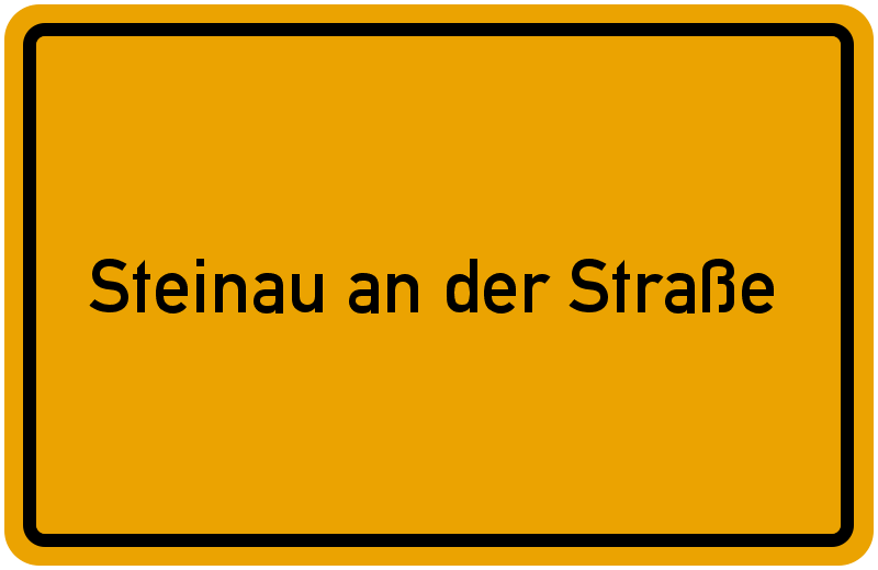 Ortsschild Steinau an der Straße