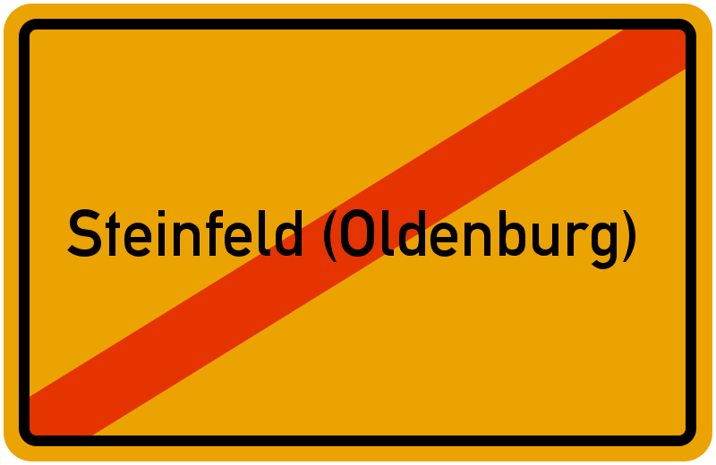 Ortsschild Steinfeld (Oldenburg)