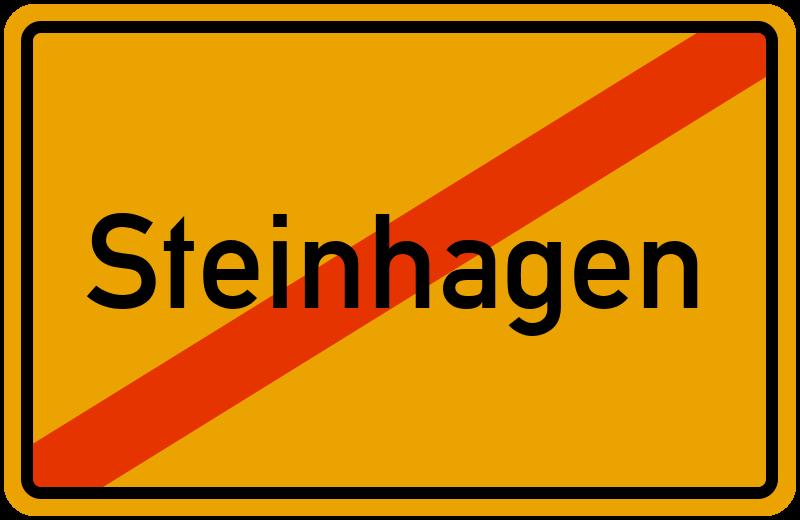 Ortsschild Steinhagen