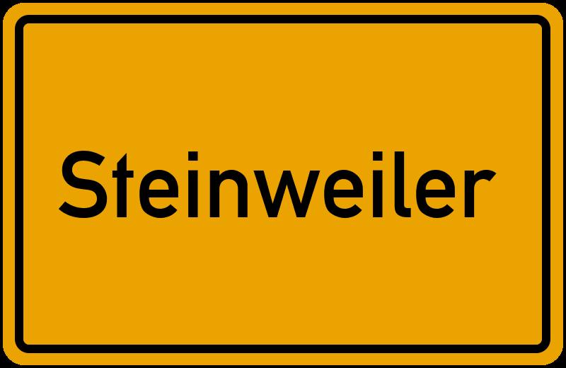 Ortsschild Steinweiler