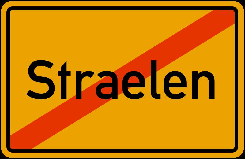 Ortsschild Straelen