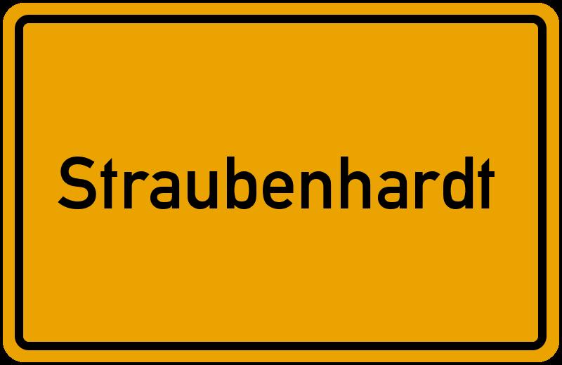 Ortsschild Straubenhardt