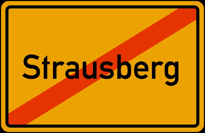 Ortsschild Strausberg
