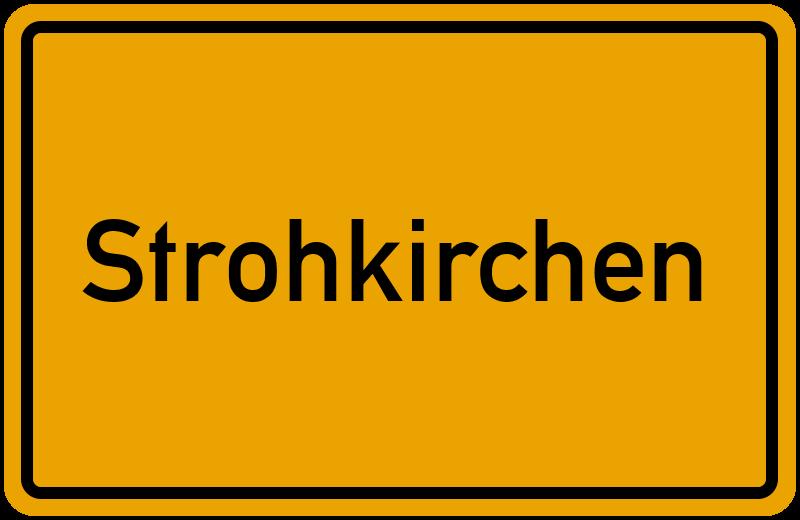 Ortsschild Strohkirchen