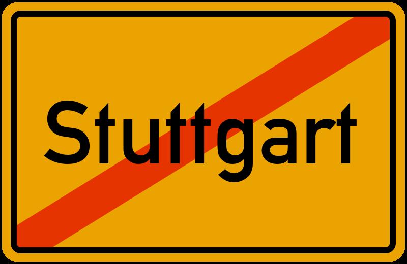 Ortsschild Stuttgart