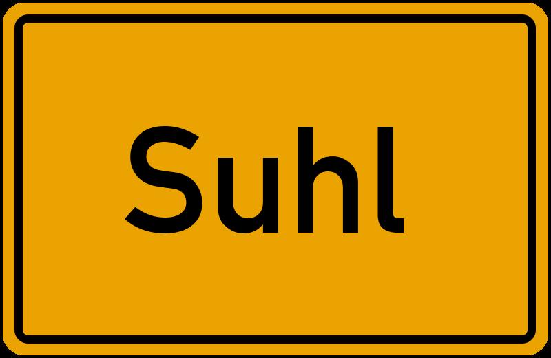 Ortsschild Suhl