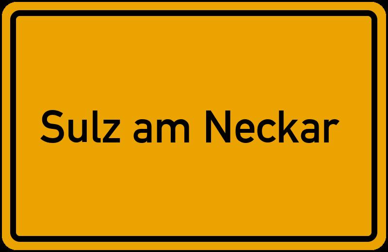 Ortsschild Sulz am Neckar
