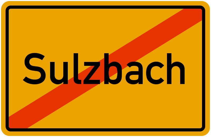 Ortsschild Sulzbach