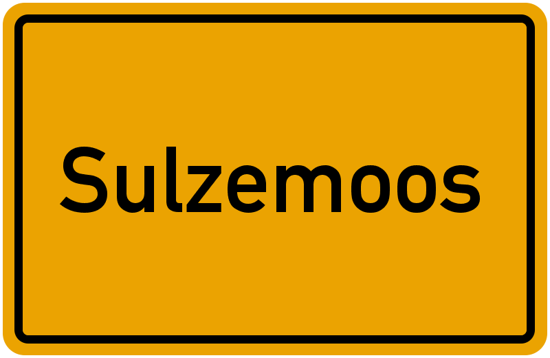 Ortsschild Sulzemoos