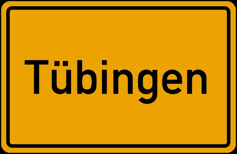 Ortsschild Tübingen