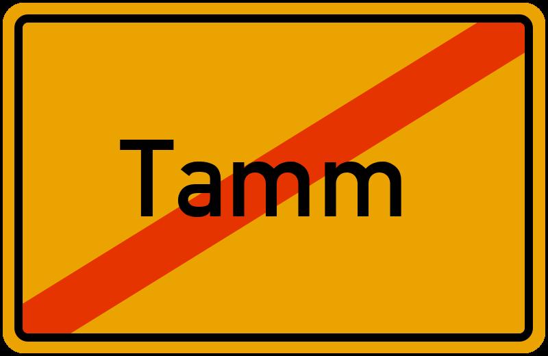 Ortsschild Tamm