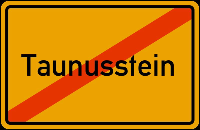 Ortsschild Taunusstein