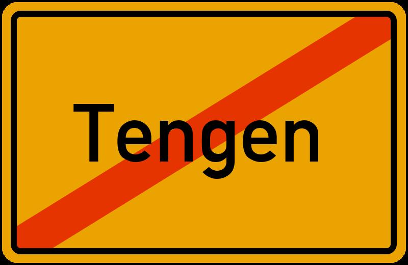 Ortsschild Tengen