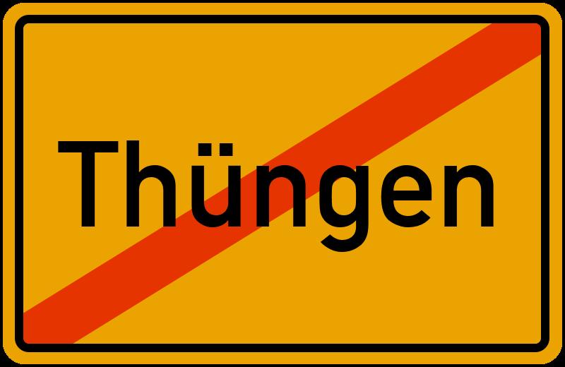 Ortsschild Thüngen