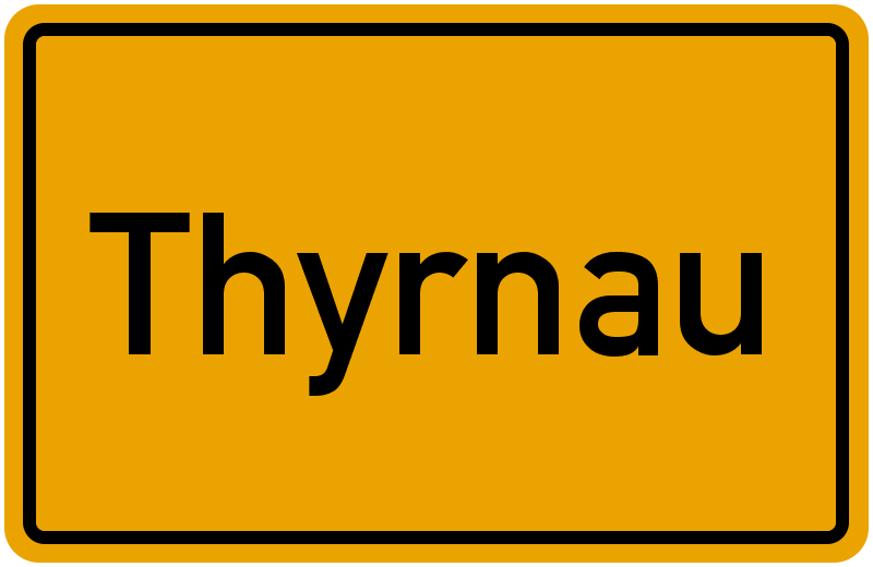 Ortsschild Thyrnau