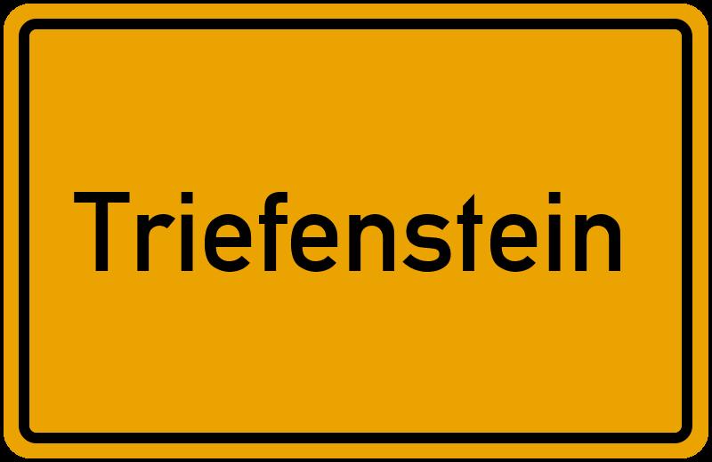 Ortsschild Triefenstein