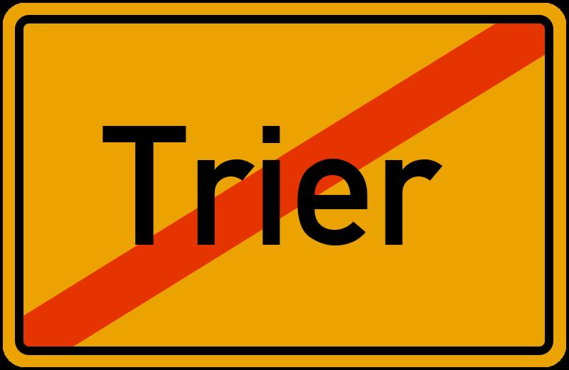 Ortsschild Trier