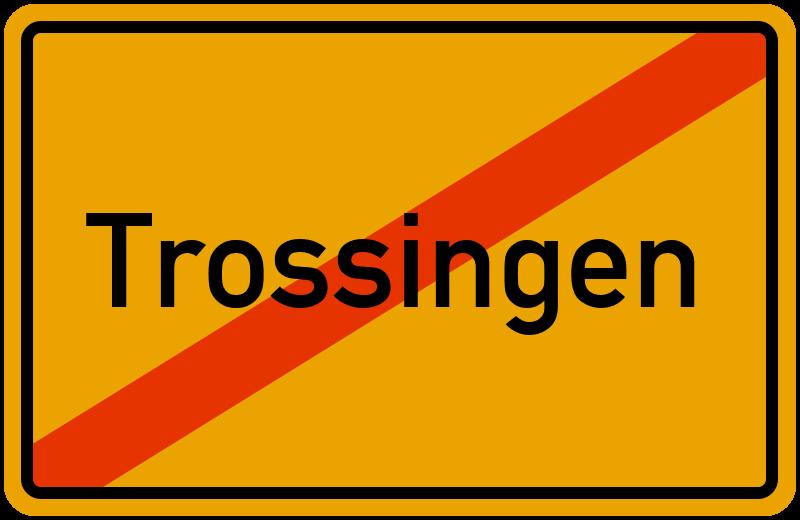 Ortsschild Trossingen