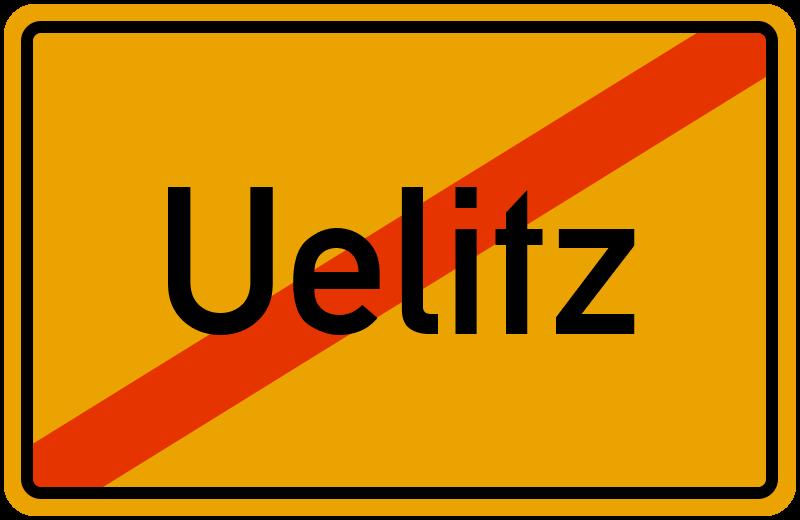 Ortsschild Uelitz
