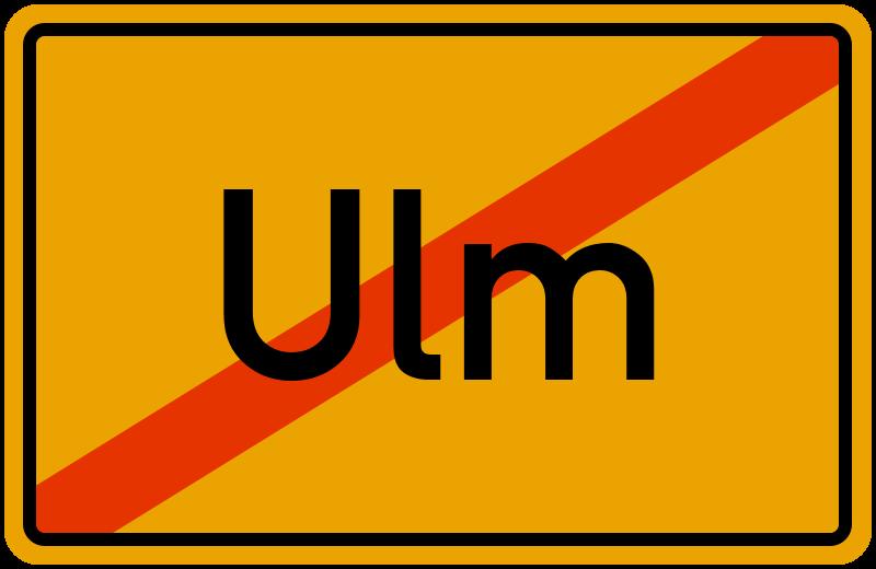 Ortsschild Ulm