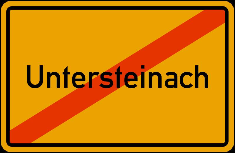 Ortsschild Untersteinach