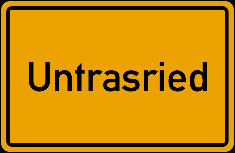 Ortsschild Untrasried