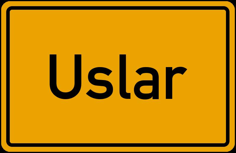 Ortsschild Uslar