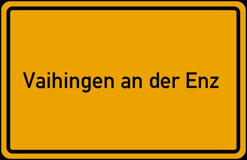 Ortsschild Vaihingen an der Enz